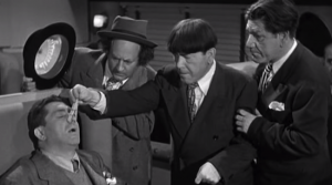 Three Stooges - Curly Snoring, in Hold That Lion